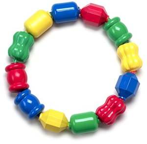 Fisher-Price Snap Lock Bead Shapes, 12 Colorful Beads Baby Development Toys under $10 educational