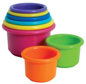 The First Years Stacking Up Cups Baby Development Toys under $10 educational