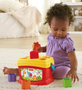 Fisher-Price Brilliant Basics Baby's First Blocks Toys under $10 Baby Development Educational