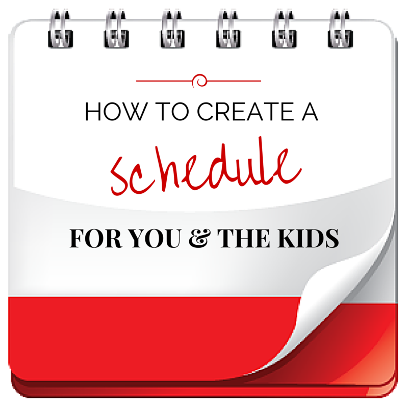 How to create a perfect schedule for you and your kids. Free tips on color coded scheduling. #motherhood #parenting #organize