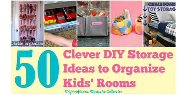 50 Organizing Ideas for Kids Rooms #organize #kids #DIY