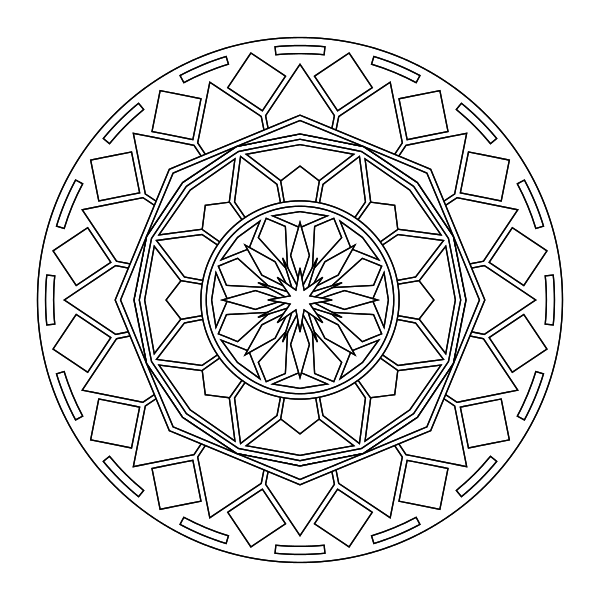 free mandalis coloring pages | Free Mandala Printable Coloring Page – Kids Bloom