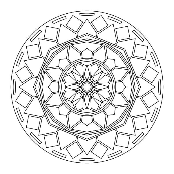 Free Mandala Printable Coloring Page